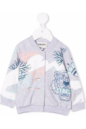Kenzo Embroidered-tiger zipped jacket