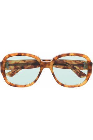 Gucci Men Sunglasses - Tortoiseshell-effect square-frame sunglasses