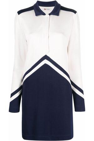 PORTS 1961 Panelled silk shirt dress