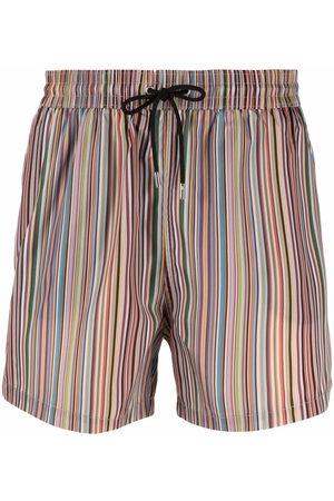 Paul Smith Signature stripe-print swim shorts