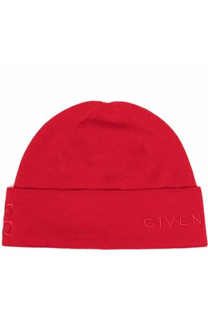 Givenchy Men Beanies - Embroidered-logo wool beanie