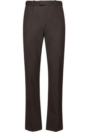 Bottega Veneta High Wasit Wool Blend Twill Pants