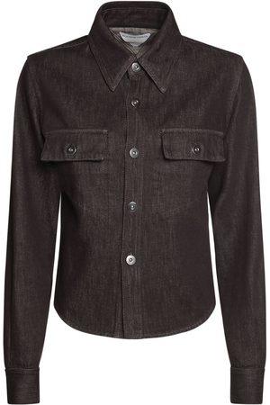 Bottega Veneta Women Shirts - Truffle Cotton Denim Shirt