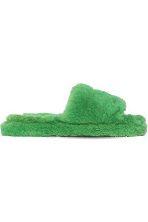 Bottega Veneta Men Sandals - Teddy Shearling Slide Sandals