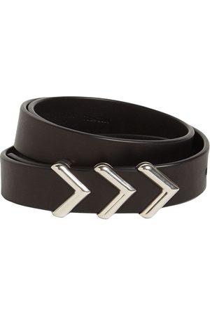 Bottega Veneta Women Belts - 2cm Metal Chevron Leather Belt