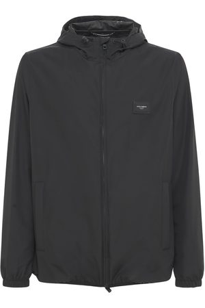 Dolce & Gabbana Men Sports Jackets - Dg Label Hooded Nylon Windbreaker