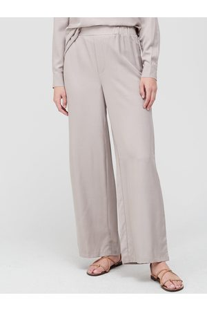Very Cupro Co-Ord Trouser - Neutral