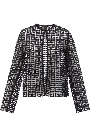 Givenchy 4g Wool-blend Guipure-lace Jacket - Womens