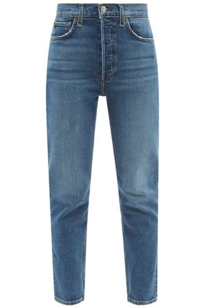 RE/DONE Women Trousers - 90s Ankle Crop High-rise Jeans - Womens - Mid Denim