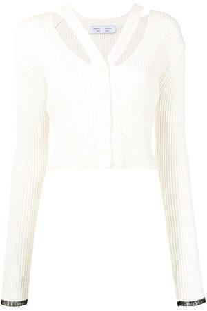 PROENZA SCHOULER WHITE LABEL Women Cardigans - Strap detail cropped cardigan