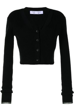 Proenza Schouler White Label Women Cardigans - Ribbed-knit cropped cardigan