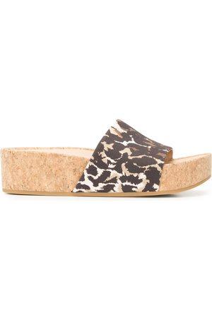 VERONICA BEARD Dresdyn leopard platform slides