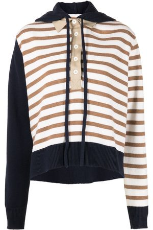 MONSE Rugby striped knit hoodie