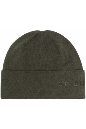 Givenchy Men Beanies - Logo-embroidered beanie