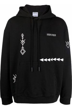 MARCELO BURLON Logo-print patterned hoodie