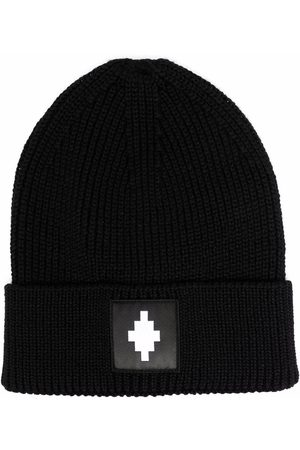 Marcelo Burlon County of Milan Logo patch knitted beanie