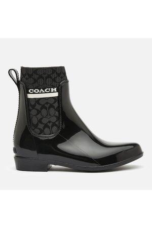 Coach Women's Rivington Signature Knit Rain Boots