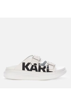 Karl Lagerfeld Women's Kapri Leather Flatform Sandals