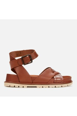 Clarks Women's Orianna Cross Leather Sandals