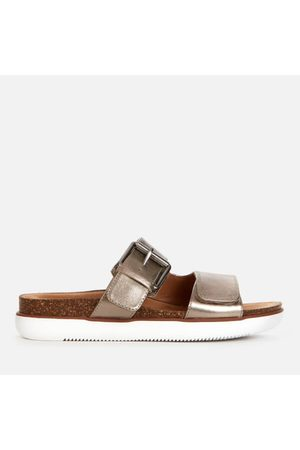 Clarks Women's Elayne Ease Leather Double Strap Sandals