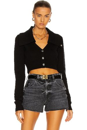 Helmut Lang Tucked Cropped Cardigan in