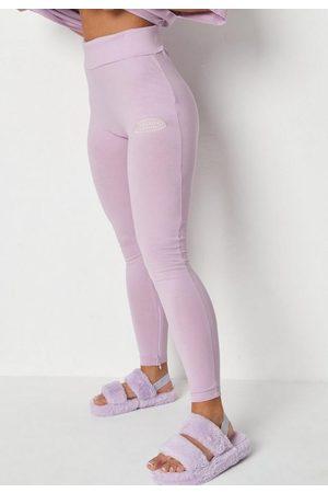 Missguided Lilac Split Hem Leggings, Lilac