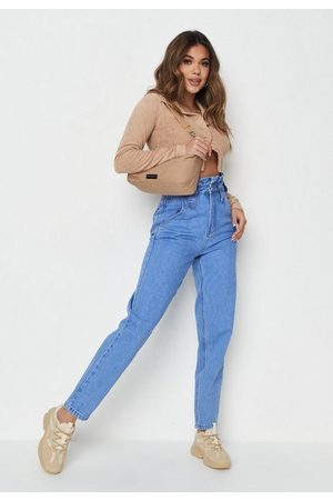 Missguided 90S Paperbag Waist Mom Jeans