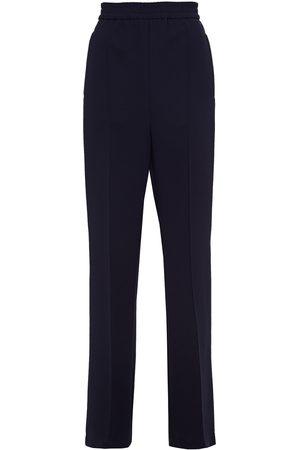 Msgm Woman Stretch-crepe Wide-leg Pants Midnight Size 40