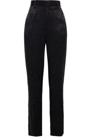 Msgm Woman Satin-jacquard Straight-leg Pants Size 40
