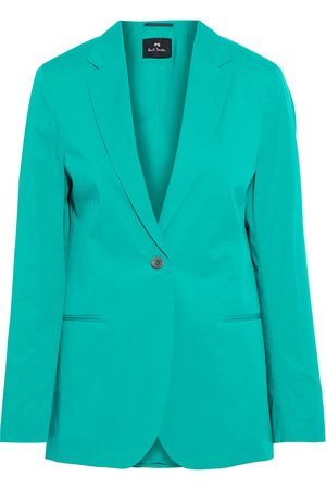 Paul Smith Woman Cotton-blend Poplin Blazer Jade Size 40