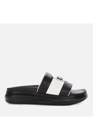 Karl Lagerfeld Women Sandals - Women's Kapri Ikonic Leather Flatform Slide Sandals