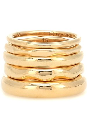 Bottega Veneta 18kt -plated set of five rings