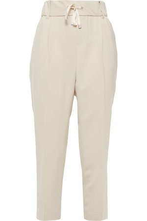 ATM Anthony Thomas Melillo Woman Cropped Cady Tapered Pants Size L