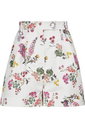 EMILIA WICKSTEAD Elliot floral taffeta faille shorts
