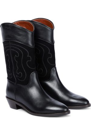 Chloé Dany leather cowboy boots