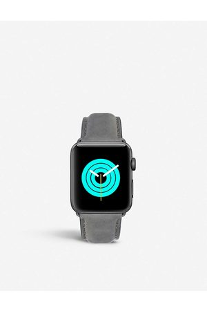 Mintapple Apple Watch matte coated stainless steel and suede strap 42mm/44mm