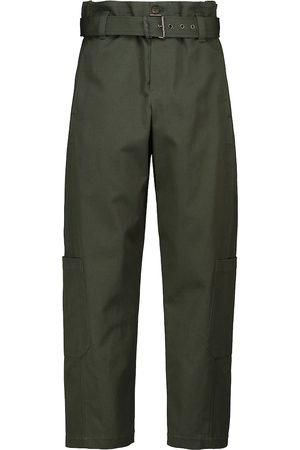 Brunello Cucinelli High-rise cotton cargo pants