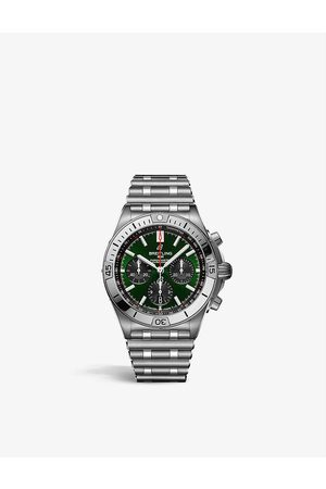 Breitling Men Watches - AB01343A1L1A1 Chronomat B01 42 Bentley stainless-steel self-winding watch
