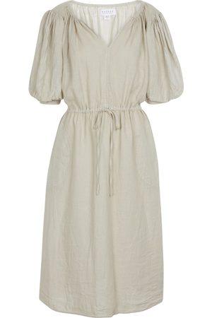 Velvet Susannah linen midi dress