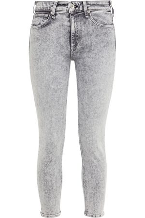 RAG&BONE Woman Cate Cropped Mid-rise Skinny Jeans Gray Size 23