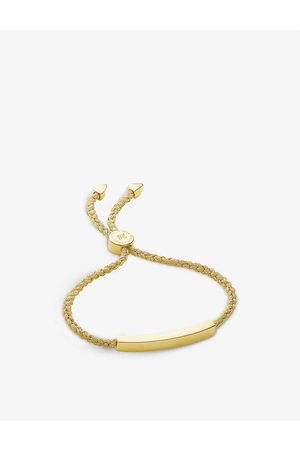 Monica Vinader Linear 18ct -plated woven friendship bracelet