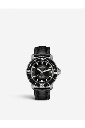 Blancpain 50000130B52A Fifty Fathoms brushed steel watch