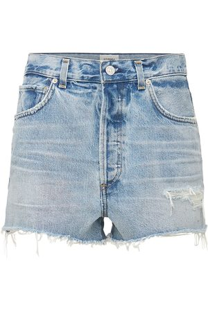 Citizens of Humanity Kaia High Waist Cotton Denim Shorts