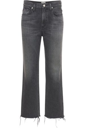 Citizens of Humanity Women Jeans - Daphne Crop High Waist Stovepipe Jeans