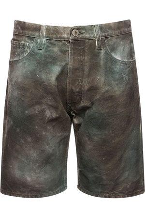 The Attico Camouflage Printed Cotton Canvas Shorts