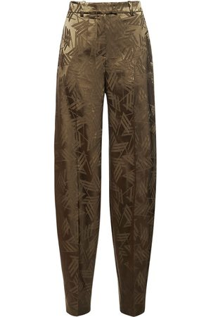 The Attico Logo Fluid Viscose Jacquard Pants