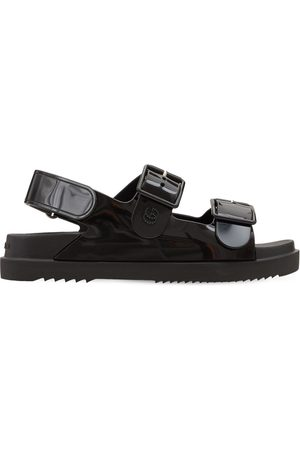 Gucci 35mm Isla Rubber Sandals W/ Double G