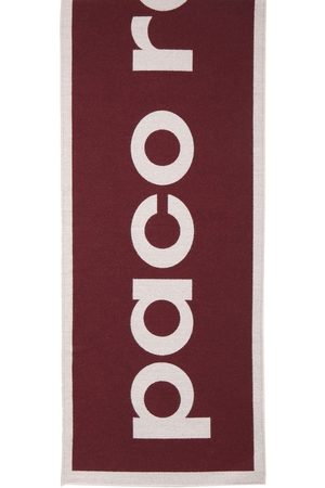 Paco rabanne Logo Wool Knit Scarf
