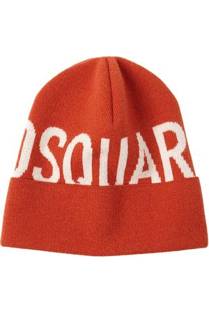Dsquared2 Logo Wool Knit Beanie