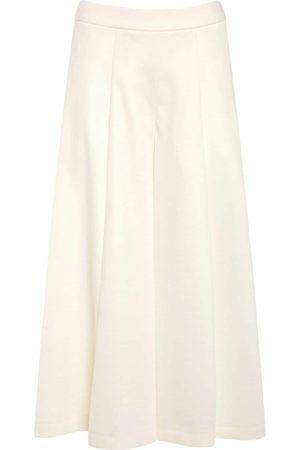 Max Mara Women Wide Leg Trousers - Wool Jersey Wide Leg Pants